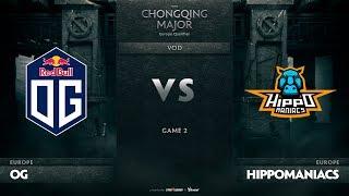 OG vs Hippomaniacs, Game 2, EU Qualifiers The Chongqing Major