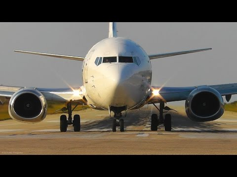 Aviolet Boeing 737-300 Landing & Takeoff @ Skiathos, the Second St Maarten - Plane Spotting