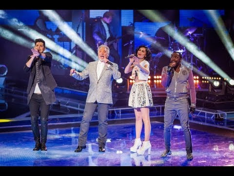 coaches - http://www.bbc.co.uk/thevoiceuk Danny O'Donoghue, Jessie J, Tom Jones, will.i.am have been unleashed from their Voice chairs! Watch the foursome rock the sta...