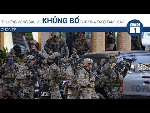 Thương vong sau vụ khủng bố Burkina Faso tăng cao | VTC1 - Thời lượng: 61 giây.