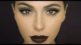 Fall Makeup: Dark Matte Lips   Lipstick Tutorial   Teni Panosian