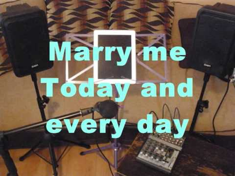 Marry Me By Train Karaoke Backing Track