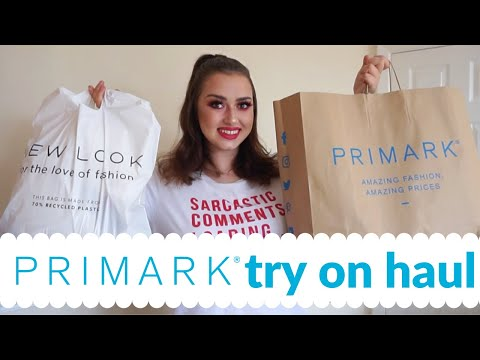 PRIMARK TRY ON HAUL AUGUST 2020! MIDSIZE HAUL, WORKWEAR AND SHOES!