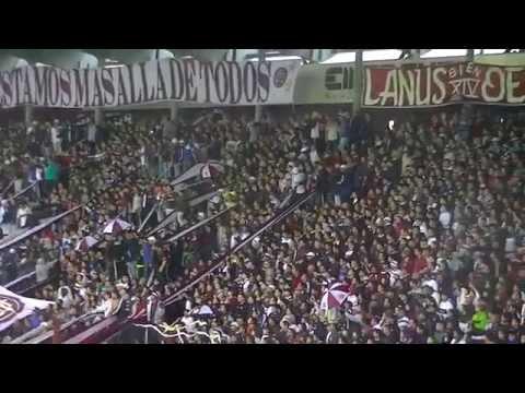 Video - Fiesta de Lanus al Ganarle a Banfield. Final del Partido y Festejos. - La Barra 14 - Lanús - Argentina