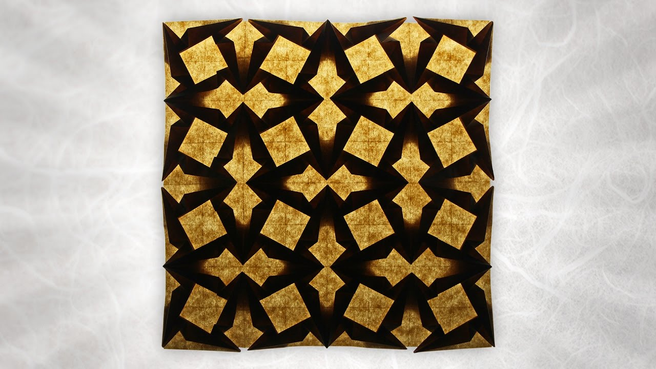 Origami Double Spearhead Tessellation (Michał Kosmulski)