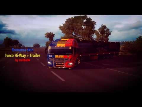 Romanian Skin Iveco Hi-Way + Trailer 1.26