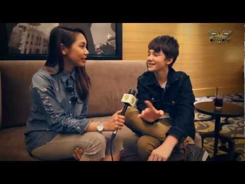 Greyson Chance - Interview With Fly FM Before His Concert @ Malaysia 2012 With Hunny Madu - www.flyfm.com.my.