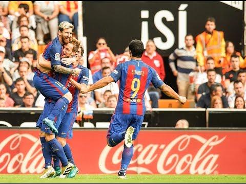 Valencia vs Barcelona 2-3 All Goals Highlights 22.10.2016
