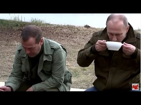 Путин и Медведев порыбачили и уху_ели на озере Ильмень Новгородская область (видео)
