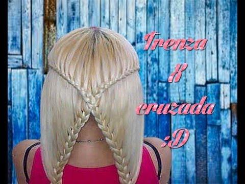 COMO HACER  LA TRENZA X CRUZADA | BRAID X CROSS HAIR TUTORIAL | VIRIYUEMOON