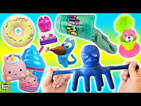 Wheel Of Squish! Cutting OPEN Stretch Armstrong OCTOPUS! Doctor Squish