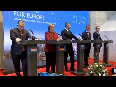 Slowakei: Bundeskanzlerin Merkel trifft Gegner ihrer Flüchtlingspolitik, die Visegrad 4