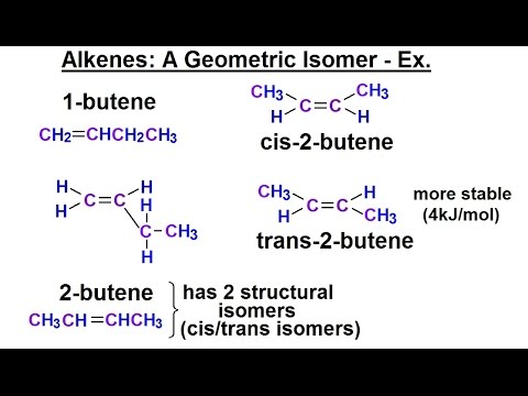 Organic Chemistry - Ch 1: Basic Concepts (23 of 97) Alkenes: A Geometric Isomer Example