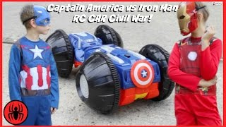 Video CAPTAIN AMERICA vs IRONMAN, Monkey Queen Gorilla RC CAR CIVIL WAR Real Life Avengers Rumbler edition MP3, 3GP, MP4, WEBM, AVI, FLV September 2018