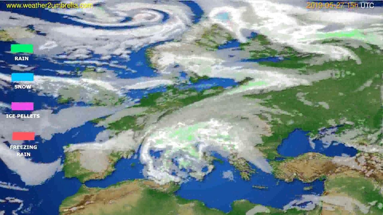 Precipitation forecast Europe // modelrun: 12h UTC 2019-05-24