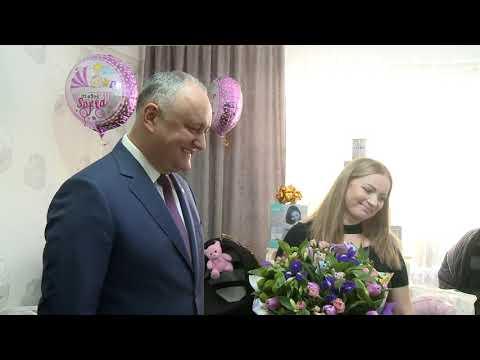 Глава государства навестил в Кишиневе супружескую пару Пелипецких