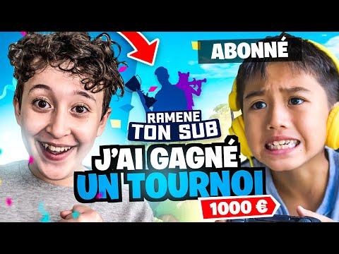 J'ai GAGNÉ un TOURNOI en DUO avec un ABONNÉ sur FORTNITE BATTLE ROYALE ! #RameneTonSub 1000€ !