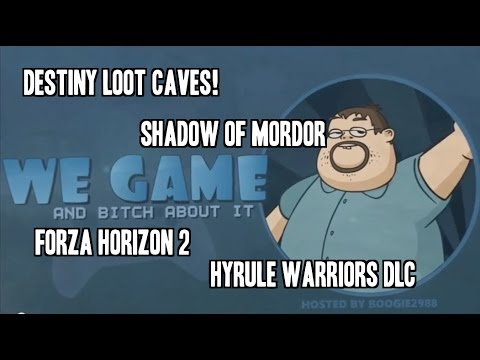 LOOT!!! - This week we talk about Hyrule warriors and their day one dlc packs, destiny's loot cave (and loot cave 2.0) and what bungie is doing to fix thie game, and exciting news about Shadow of Mordor...