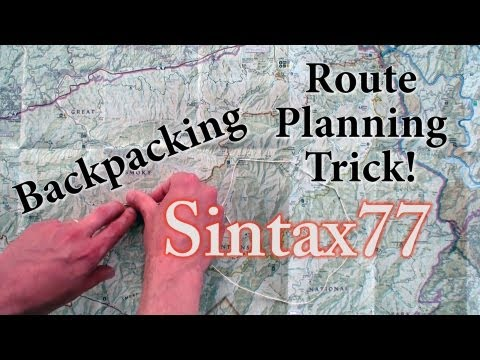 Backpacking Tips – Easy Route Planning – The String Method ...