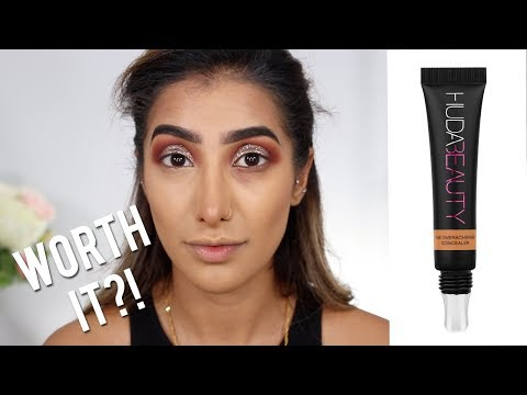 HUDA BEAUTY OVER ACHIEVER CONCEALER REVIEW & DEMO