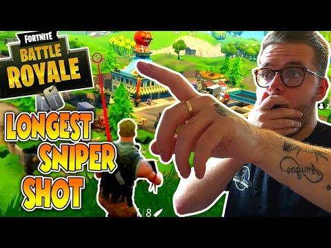 LONGEST SNIPER SHOT!!! - Fortnite: Battle Royale (XBOX One)
