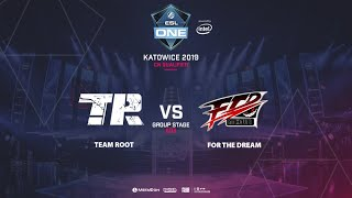 Team Root vs FTD, ESL One Katowice, CN Qualifier, bo3, game 1 [Adekvat & Lost]