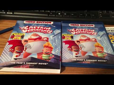 Captain underpants: the first epic movie Blu-Ray unboxing