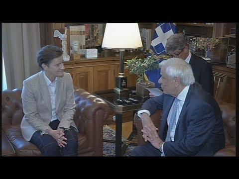 Οι εξαιρετικές σχέσεις Ελλάδος-Σερβίας στη συνάντηση του ΠτΔ με την πρωθυπουργό της Σερβίας