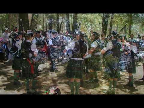 Banda de Gaitas del Batallón de San Patricio en en el Jardin Botanico del IBUNAM