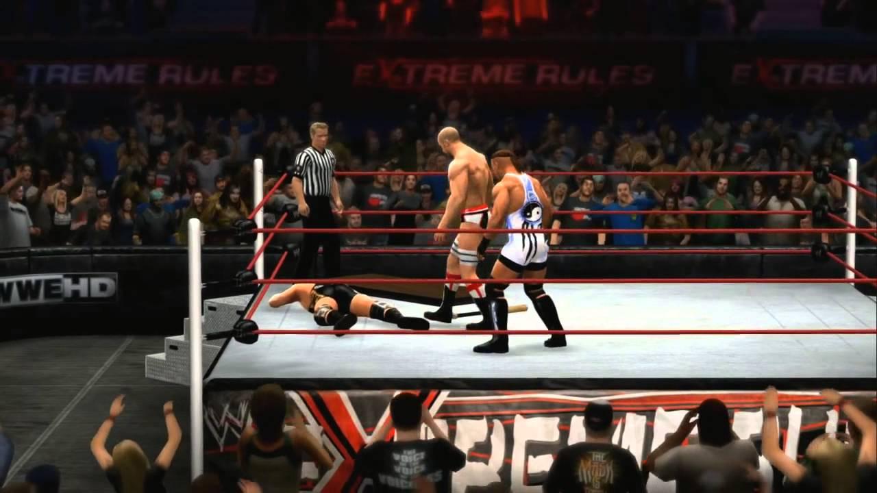 WWE2K14 Extreme Rules Sims – RVD vs. Swagger vs. Cesaro