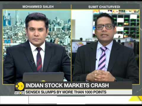 Indian stock market crash: Sensex plunges more than 100 points
