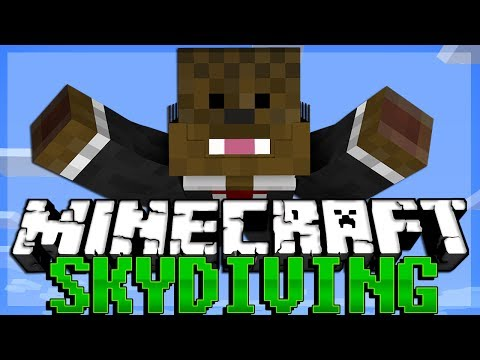 SKYDIVING in Minecraft Thimble Minigame w/ AntVenom and Bashur