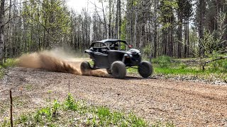 8. Maverick X3 Turbo goes 90 mph down Forest Trails!