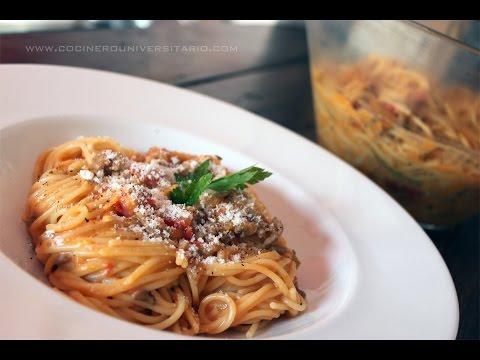 Espaguetis a la Carboloñesa