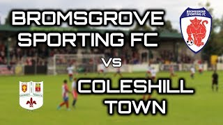 Bromsgrove Sporting faced Coleshill Town in the Preliminary Round of the Emirates FA Cup. To the neutral, this was a great...
