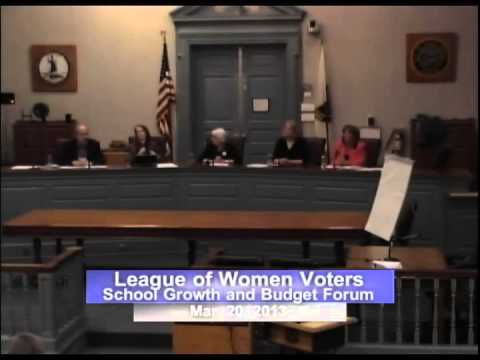 League of Women Voters Forum on School Growth