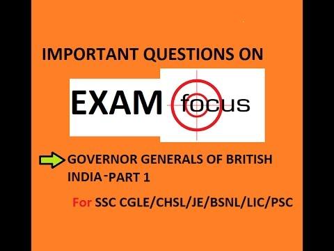 GOVERNOR GENERALS OF BRITISH INDIA PART 1 (видео)