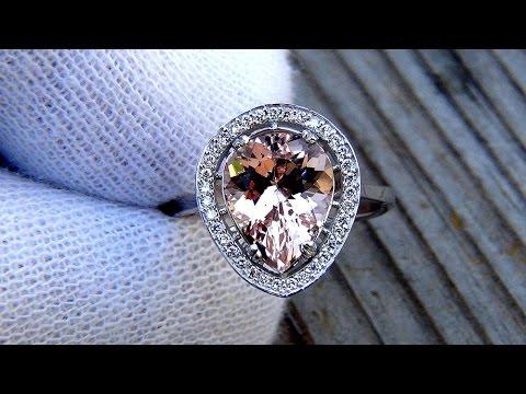 Morganite Diamond 14k Gold Ring