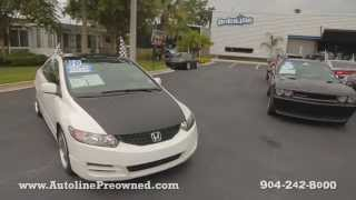 Autoline Preowned 2010 Honda Civic Cpe LX For Sale Used Walk Around Review Test Drive Jacksonville