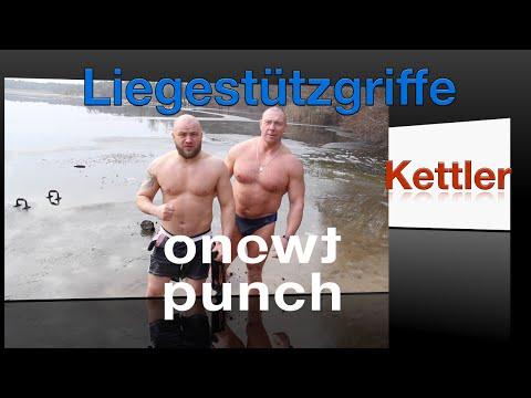 Funktional Fitness Test Kettler Liegestützgriffe mit One Two Punch Eisbaden Berlin :)