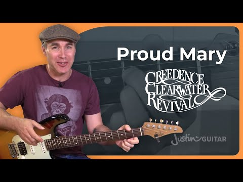 How to play Proud Mary by Creedence Clearwater Revival - Guitar Lesson Tutorial (BS-026)