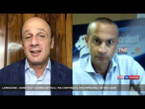 LORENZONI: «SONO STATI GIORNI DIFFICILI, MA CONTINUO IL MIO IMPEGNO» | 16/09/2020