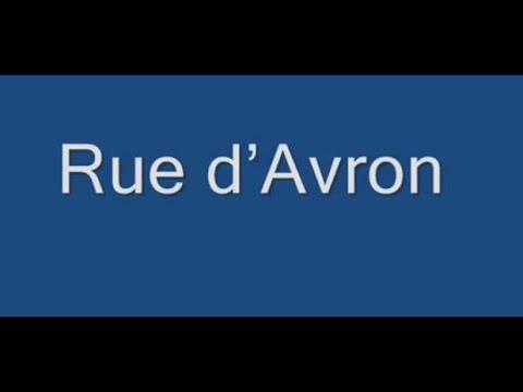 Rue d'Avron Paris Arrondissement  20e