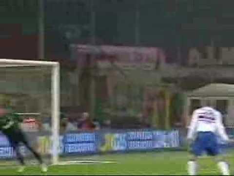 Partido del Sampdoria contra el Milan