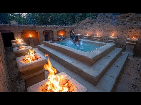 Amazing Underground Mansion Ever Built by Ancient Skills