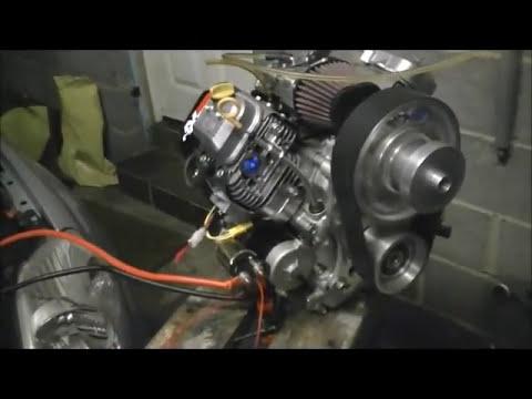 Tuned Vanguard Microlight Aircraft Engine, first run