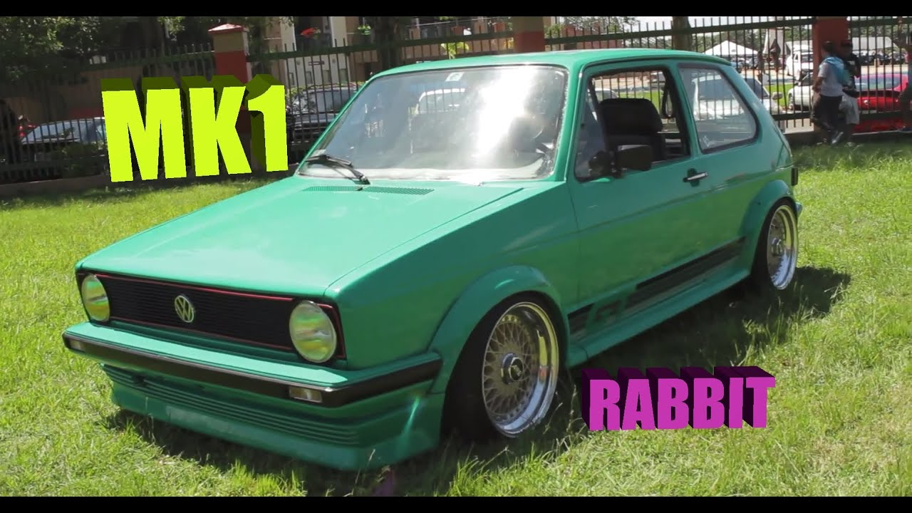 1983 Volkswagen Rabbit VW mk1 in mint green