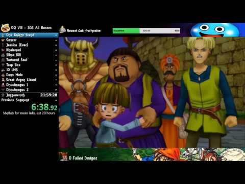 16:40:56 DQ8 All Bosses Speedrun (3DS)