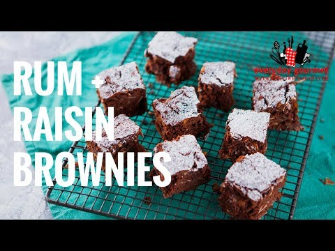 Rum & Raisin Brownies | Everyday Gourmet S7 E34