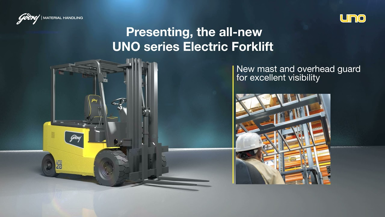 1.5 to 2 tonne UNO series Godrej Electric Forklift video